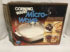 Corning Ware Microwave White Skillet Browning & Searing Dish W/Glass Lid MW-A-10