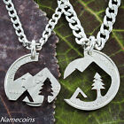 Native American Mountain necklace set Camping lovers jewelry