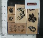 CTMH DOTS rubber stamp set WISH YOU WERE HERE tropical