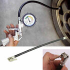 Moto Bicycle Bike Car Flexible Clip On Air Tyre Tire Valve Chuck Inflator Hose
