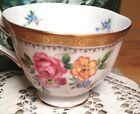 Royal Chelsea Fine Bone China Tea Cup England,Pink Blue Yellow Floral,Gold Band