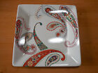 Tabletops Gallery MULTI PAISLEY Set of 2 Square Dinner Plates 10 1/2 in