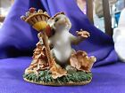 Figurine Charming Tails Fitz & Floyd 85/502 Change is in the Air Autumn Leaves