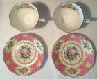 2 Vintage Royal Albert Lady Carlyle Tea Cups and Saucers