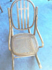 J Kohn Austria Child's Bentwood Rocking Chair Cane Seat NR
