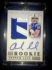 2012 ANDREW LUCK NATIONAL TREASURES BLACK ROOKIE RC PATCH #3 25 10 AUTO