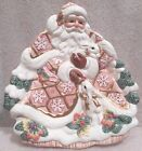Fitz and Floyd Santa Claus/Bunnies Candy Dish Plate