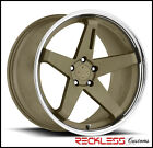 20 BLAQUE DIAMOND BD21 BRONZE STAGGERED WHEELS RIMS FITS LINCOLN MKS