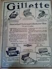 DEC 10, 1919 NEWSPAPER PAGE #2169- GILLETTE SAFETY RAZOR CO., CHRISTMAS FOR HIM