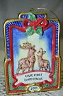 Our First Christmas Buck and Doe Christmas Tree Ornament 2001 Fitz and Floyd