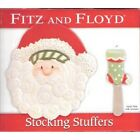 Fitz and Floyd Stocking Stuffers Snack Plate w/Spreader