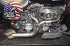Twisted Choppers 2 into 1 Exhaust Header Pipe 1985 2016 Harley Touring Bagger