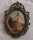 Picture of Church Beautiful Small Vintage Brass Oval  Frame Made In Italy