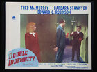 Vintage original Double Indemnity Lobby Card 1944 Fred MacMurray Stanwyck