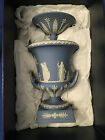Vintage WEDGWOOD Jasperware Urn with handles and lid