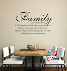 Family Isnt Always Blood Wall Decor Decal Sticker Lettering Words Quote Q331