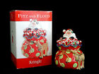 Fitz & Floyd Kringle Santa Claus Deer Christmas Cookie Jar MIB Mint in Box!
