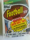 1984 TOPPS UNOPENED FOOTBALL CELLO PACK DICKERSON RAMS ROOKIE TOP 28 MINT CARDS