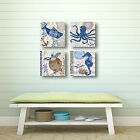 Barrier Reef Fish by Jennifer Brinley 4 Piece Graphic Art on Wrapped Canvas Set