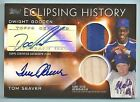 DWIGHT GOODEN TOM SEAVER 2015 TOPPS ECLIPSING HISTORY GAME BAT PATCH AUTO 10
