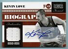 KEVIN LOVE 2010 11 NATIONAL TREASURES BIOGRAPHY MATERIALS JERSEY AUTOGRAPH 25 25