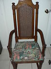 Vintage Shaker Cane Back Captain Arm Chair New Fabric
