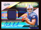 ANDREW LUCK 2012 PLAYOFF ABSOLUTE PLATINUM STAR GAZING COLTS PATCH AUTO RC 04 25