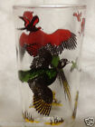 HAZEL ATLAS RED HEADED PHEASANT 12 Z TUMBLER GLASS BIRD HUNTER DOG HUNTING SCENE