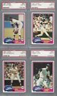 1981 Topps PSA 9 Yankees Set with Traded - Jackson HOF Perry Piniella Nettles