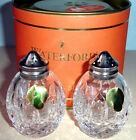 Waterford Crystal Lismore Giftology Round Salt & Pepper Shakers #4000087 New