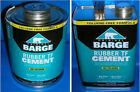 Barge Original Rubber Cement Tf 1 Gallon Gl Or 1 Quart Qt Quabaug Tin Can