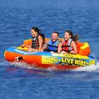 Airhead Live Wire 3 Rider Inflatable Water Tube Float Boat Tow Towable AHLW 3
