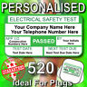 520 PAT TEST Personalised Labels - Ideal For Plugs - PAT TESTER LABELS