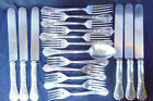 Antique Reed and Barton Silverplate Flatware 18 pieces Modern Art Pattern 1904