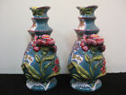 TWO BEAUTIFUL TRACY PORTER HAND PAINTED BUD VASES-CERAMIC (?)