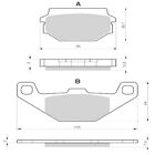 Sintered Goldfren Brake Pads For SYM Husky 125 Front RH 1998-2005