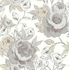 ARTHOUSE OPERA LUXURY CASSI HAND PAINTED FLORAL FLOWER BLOOM WALLPAPER ROLL NEUT