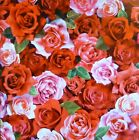 Roses Red Pink Roses by Red Rooster Digital Cotton Fabric