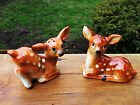 VINTAGE SPOTTED FAWN BABY DEER SALT AND PEPPER SHAKERS HAND PAINTED JAPAN