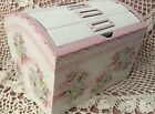Hand Painted Picture Album Box Cottage Chic Pink Roses Hydrangeas Shabby Lace