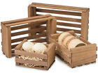 Stacking Crates SET OF 4 Rustic Wood Display Shelf Crates-Retail-Books-Shelves