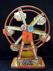 CHEIN TIN LITHO WIND UP METAL TOY FERRIS WHEEL HERCULES VINTAGE RARE ANTIQUE