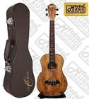 Oscar Schmidt Spalted Mango TENOR Acoustic Electric Ukulele OU7TEw Hard Case