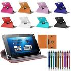 360° Folio Leather Box Case Cover For Toshiba TAB Android Window Tablet w/ Styus