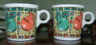 Lot of 2 VTG Homer Laughlin Fiesta Mug Dancing Carafes Tom & Jerry Ring Handle