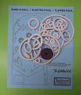 Gottlieb Bank-A-Ball / Electra Pool / Flipper Pool pinball rubber ring kit