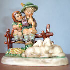Hummel Goebel EVENTIDE #99 TMK5 Boy & Girl on Fence with Sheep Museum Archive