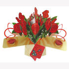 3D Pop Up Greeting Card by Second Nature Bunch Of Roses SN POP 091
