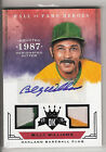 2015 DIAMOND KINGS HOF HEROES TWO GU PATCHES & AUTOGRAPH BILLY WILLIAMS TRUE 1 1