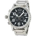 Nixon 51-30 Chrono A083-000 Black Dial Silver Stainless Steel Mens Watch